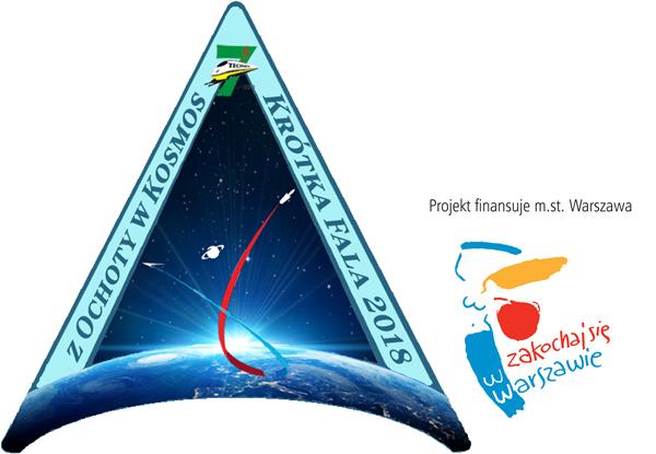 Projekt Z OCHOTY w KOSMOS - KRÓTKA FALA 2018 logo